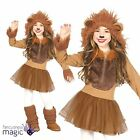 *Childs Girls Lion Book Week Zoo Jungle King Animal Fancy Dress Costume Outfit*