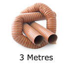 Orange 3 Metres Silicone Ducting Flexible Hose Hot Or Cold Car Pipe Air Transfer