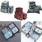 6x Waterproof Travel Storage Bags Clothes Packing Cube Luggage Organizer PouchUK