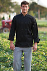Uncommon Threads Classic 10 Button Chef Coat Black, XS to 2XL, 0402P
