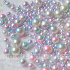 100pcs Pink Resin Round Imitation Pearl Loose Beads With Hole 3 4 5 6 8 10mm