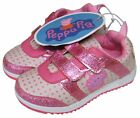 Infants Kids Girls Cute Pink/white Peppa Pig Trainers Pumps Shoes Sizes 5-10