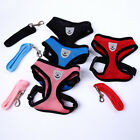 Small Cat Pet Dog Puppy Mesh Fabric Adjustable Harness Lead Leash Breathable