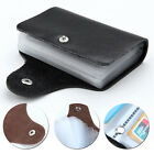 26 Slots Genuine Leather Bags Business ID Credit Card Holder Wallet Pocket Purse