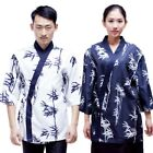 Newly Sushi Chef Coat BBQ Shop Serving Staff Workwear V-neck Loose Working Tops