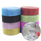 10Yards 8Rows Diamond Mesh Wrap Roll Rhinestone Crystal Ribbons Wedding Decorate
