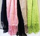 Womens JONES NY 100% Viscose Rayon scarf~Fringed ends~Asst colors 21 X 68 NWT