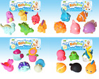 Water Squirters Bath Time Toy Sets Boys Girls Sea Life, Fish, Dinosaurs & Garden