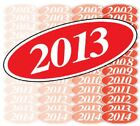 White & Red Oval Year Model Car Dealer Windshield Pricing Sticker You Pick