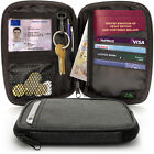 Small Travel Wallet Passport Holder RFID Organiser Pouch for Cards Tickets Money