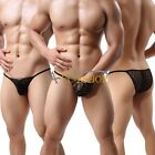 Mens Sexy Sheer Mesh Panties Boxer Trunks Shorts See Through Knickers Underwear