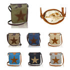 LeahWard Women's Fabric Star Print Cross Body Bags Canvas Satchel Handbags, used for sale  Shipping to Canada