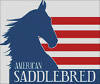 SADDLEBRED HORSE AMERICAN FLAG COUNTED CROSS STITCH PATTERN PDF OR PRINTED