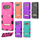 Samsung Galaxy Note 8 HYBRID IMPACT TUFF Dazzling Diamond KICK STAND Case Cover