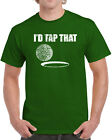 338 Id Tap That mens T-shirt funny golf caddy outing sport rude sex golfer shirt
