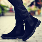 Men Winter Warm Ankle Boots Zip High Top Thicken Snow Boots Casual Flat Shoes