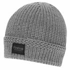 Firetrap Mens Blackseal Ribbed Hat Beanie Knitted