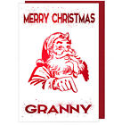 Pretty Sparkling Effect Christmas Card For Granny Grandmother