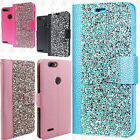 For ZTE Blade Z Max Premium Bling Diamond Wallet Case Flip Pouch Phone Cover