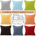 "Hot Vintage Home Decor Corduroy Pillow Case Sofa Waist Throw Cushion Cover 26"" image"