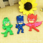 1pc PJ Masks PVC Plastic Keyring Key Chain Ring Kids Xmas Gift Party Bag Favor