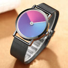 Men Watches Creative Design Colorful Dial Analog Sport Casual Quartz Wrist Watch