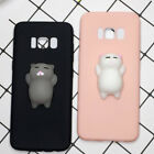 Cartoon 3D Squishy Slow Rising Lazy Cat Soft TPU Case Cover for Samsung S8 7 6
