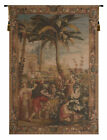 La Recolte des Ananas French Palm Tree Landscape Woven Tapestry Wall Hanging