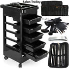 Beauty Salon Hairdresser Barber Storage Trolley 5 Drawers Spa Hair Cart Brush UK
