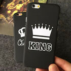 BA_ KING QUEEN COUPLE CROWN HARD THIN MATTE BACK COVER PHONE CASE FOR IPHONE BON