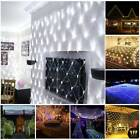 Outdoor Indoor Xmas LED String Fairy Lights Net Mesh Curtain Wedding Party Lamp