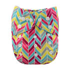 ALVABABY All-In-Ones Cloth Diapers Reusable Nappy Sewn-in 4-layers Bamboo Insert