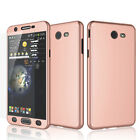 Samsung Galaxy J7 Sky Pro / J7 Perx / J7 V 360° Case Shockproof + Tempered Glass