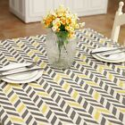 Geometry Trapezoid Print Cotton Linen Tablecloth Home Dining Coffee Table Cover