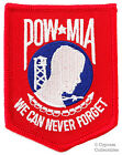 POW-MIA EMBROIDERED PATCH iron-on VIETNAM WAR RED BLUE Prisoner of War Emblem