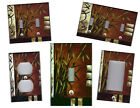 BAMBOO WITH ASIAN SYMBOLS HOME DECOR DECORATIVE LIGHT SWITCH COVER PLATE