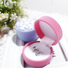 Cute Earrings Ring Velvet Gift Display Box Jewelry Necklace Case Snow Pattern