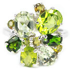 REAL PERIODT AMETHYST CHROME DIOPSIDE TOURMALINE STERLING 925 SILVER RING 7.75