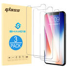 For iPhone X Screen Protector [ 3 Pack ] Tempered Glass Premium Protection Clear