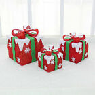 A65 Christmas Xmas Red Festival Hotel Decorations Ornaments Gift Bag 3 Pcs X