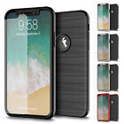 FOR APPLE IPHONE X 10 BRUSHED METAL TEXTURE CAPSULE FULL COVERAGE CASE OVER+STY