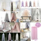 Kids Baby Bed Canopy Bedcover Mosquito Cotton Curtain Bedding Dome Tent Decor US