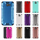 For Alcatel A30 Fierce Combat Brushed Metal HYBRID Rubber Hard Case Phone Cover