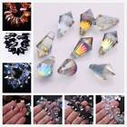 10pcs 11X20mm Teardrop Faceted Crystal Glass Loose Spacer Beads Hangging Drops