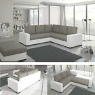 Corner Sofa Canis with Sleep Function and Bed Box in White/Grey Sofa Bed EP042