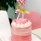 2 Style Personalised Flamingo Figurine Cake Topper Car Home Ornament Decoration