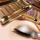 Shimmer Diamond Eyeshadow Eye Shadow Palette Makeup Cosmetic Brush Set 9 Colors