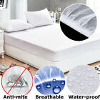 2 Sizes White Waterproof Mattress Pad Protector Bed Cover Soft Hypoallergenic