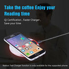 5V 2A QI Wireless Fast Charger Charging Pad Mat Stand For Apple iPhone X 8 8Plus