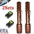 20000LM Zoomable 5-modes XML-T6 LED Flashlight Torch+Charger+18650battery USA